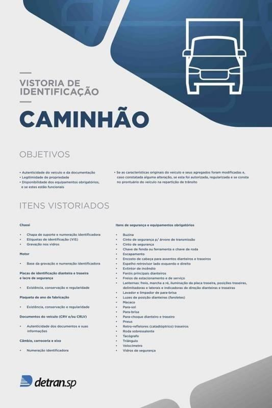 Vistoria Veicular para Caminhão Preço Santa Bárbara D'Oeste - Vistoria Veicular para Licenciamento